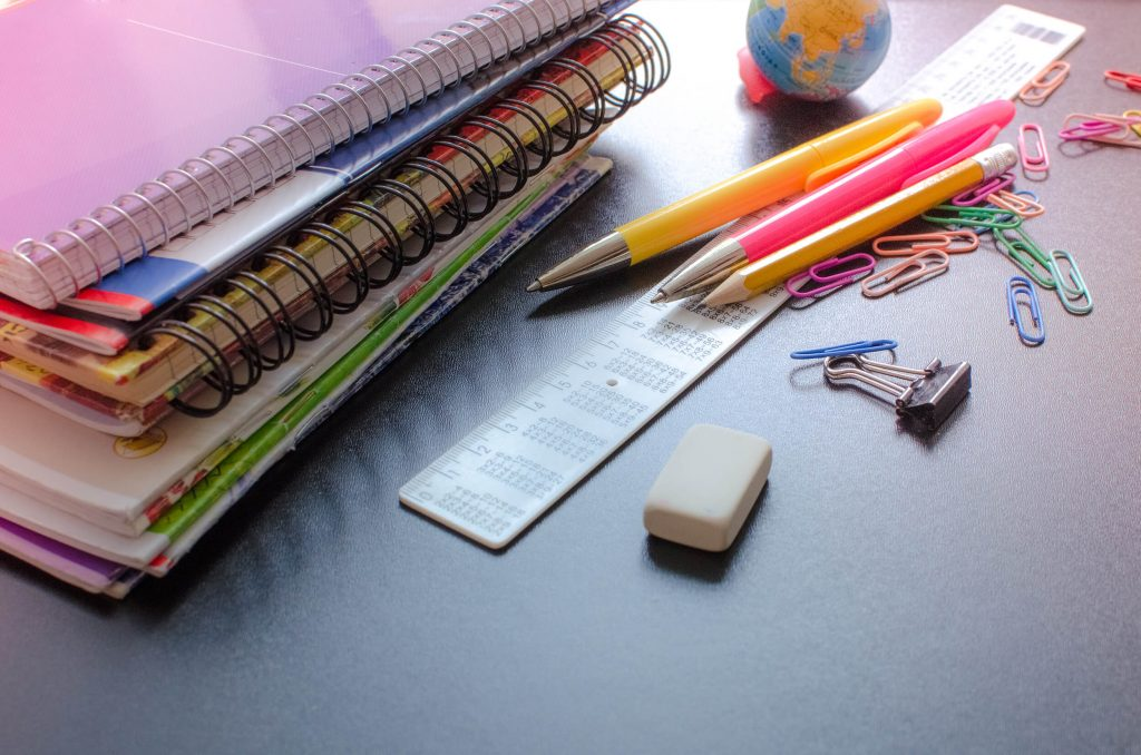 stationary on table